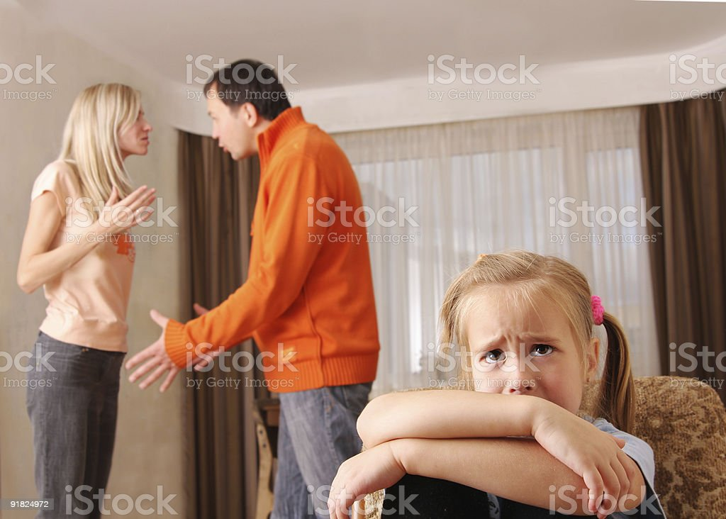 Parents swear, and children suffer royalty-free stock photo