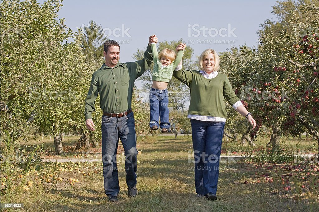 Parents Swinging Little Girl royalty-free stock photo