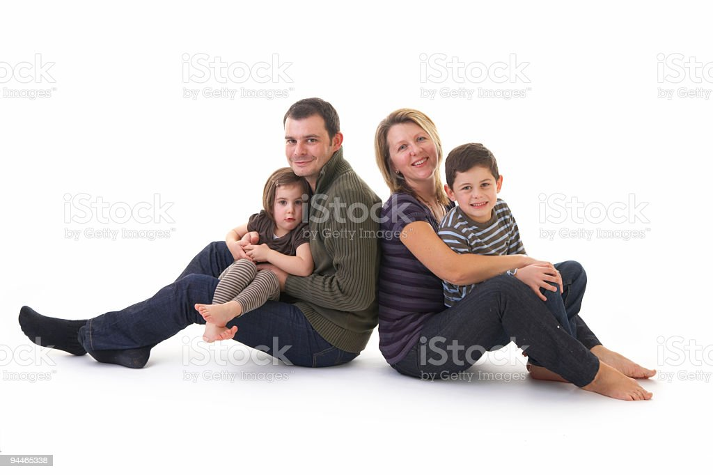 parents with children royalty-free stock photo