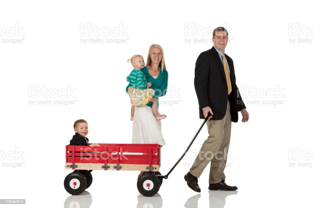 Eltern mit ihren Kindern – Foto