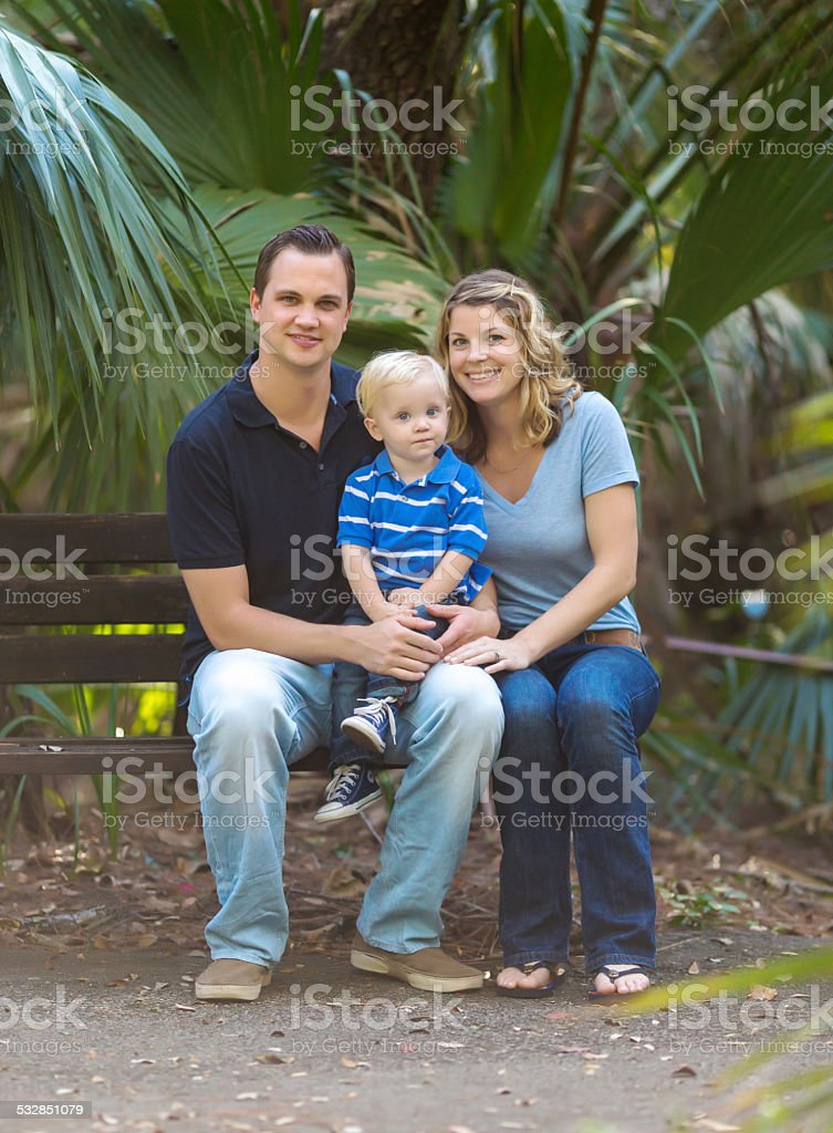 Parents with their son stock photo