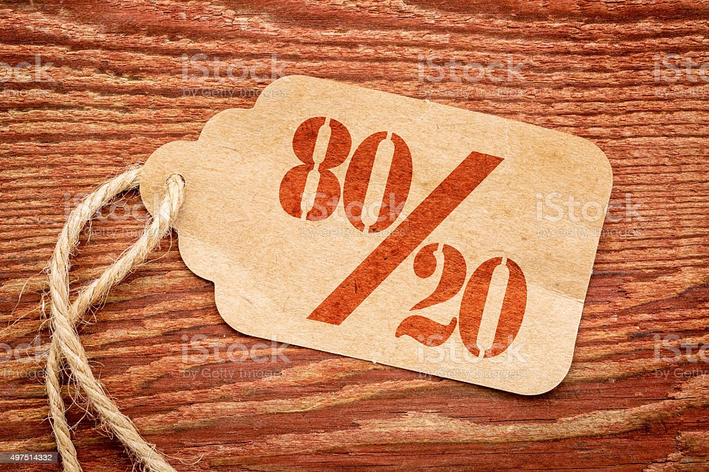 Pareto principle concept stock photo