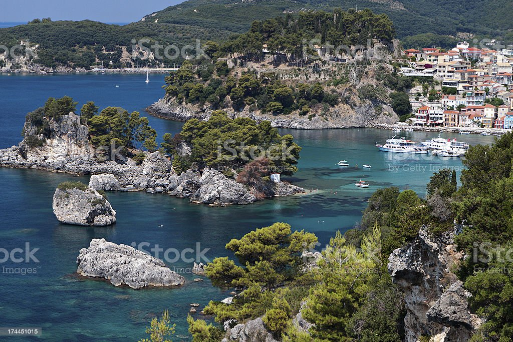 Parga bay in Greece stock photo