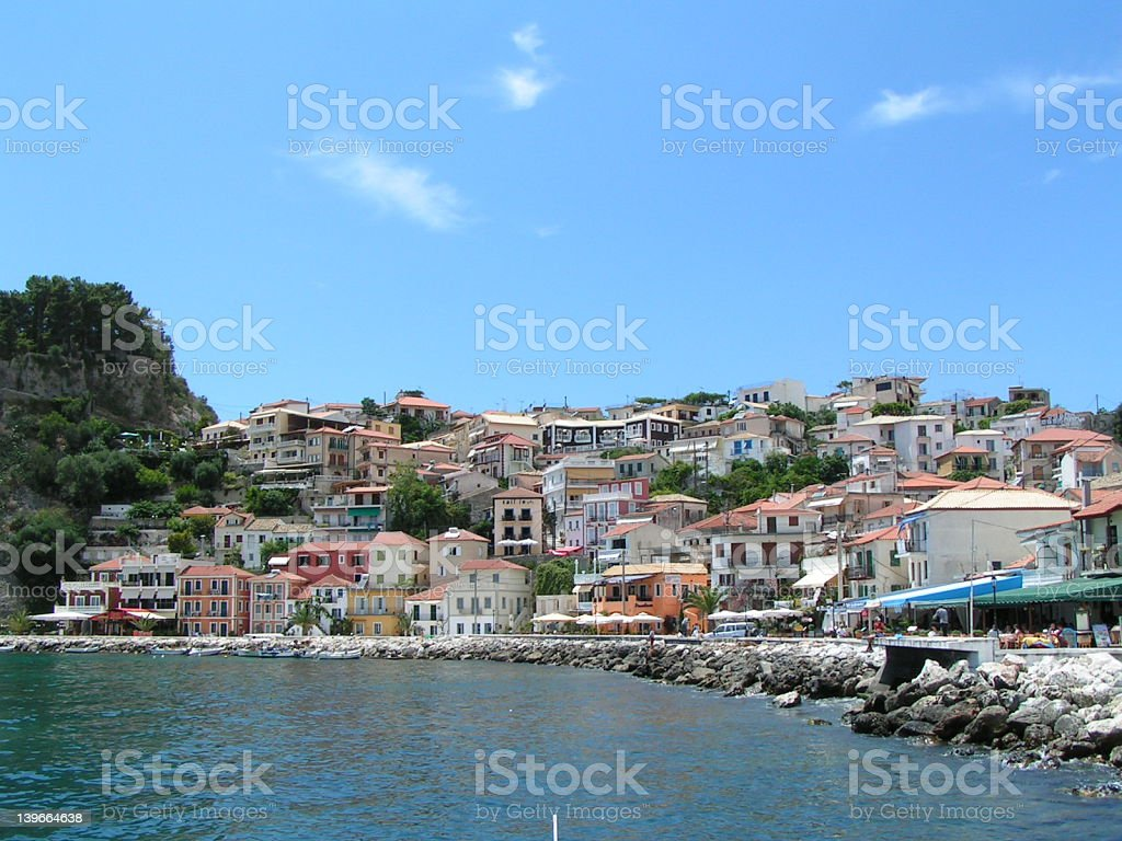 Parga, Greece stock photo