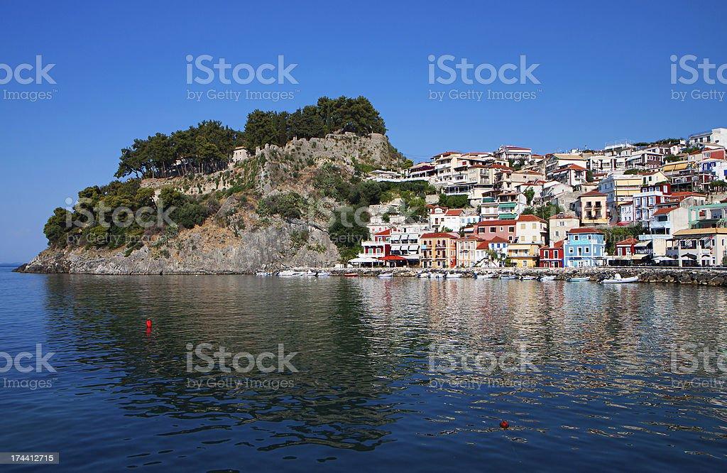 Parga town in Greece stock photo