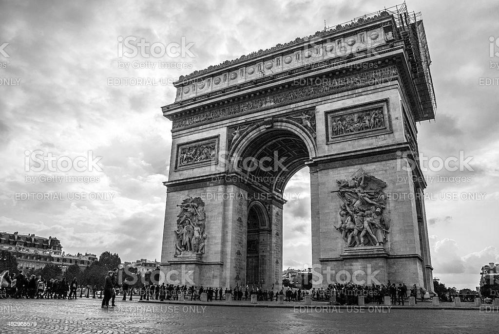 Parigi, Arco di Trionfo royalty-free stock photo