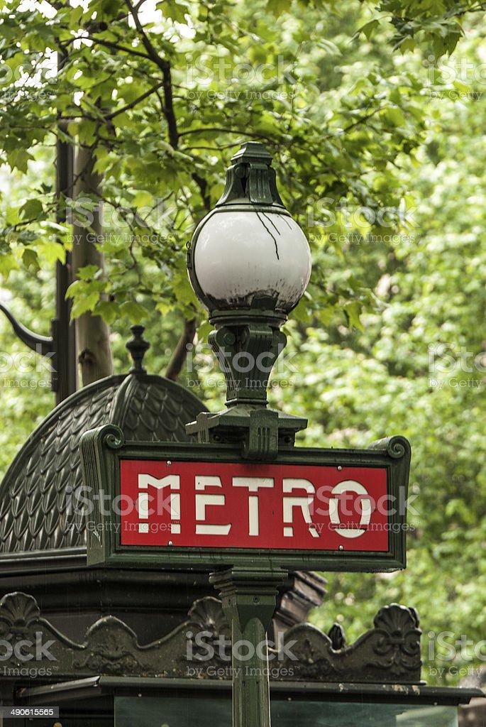 Parigi, metro stock photo