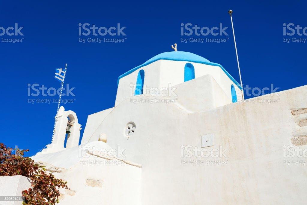Parikia old town, Paros stock photo
