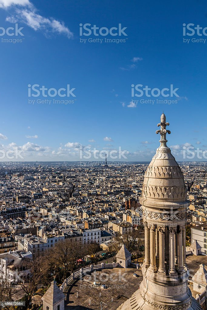 Paris aerial View stock photo