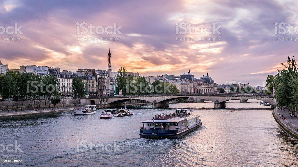 Paris after sunset foto royalty-free