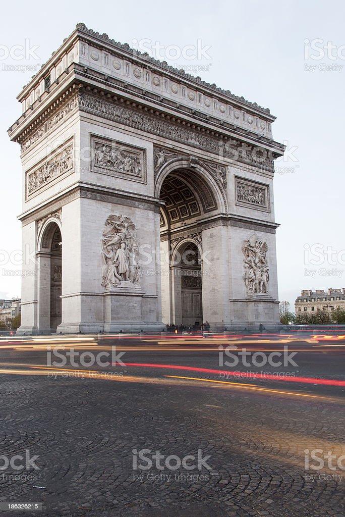 Paris, Arc de Triomphe stock photo