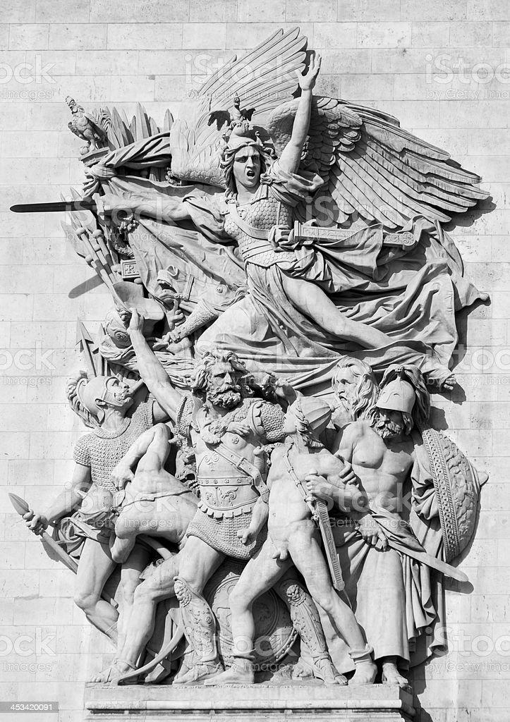 Paris Arch de Triomphe stock photo