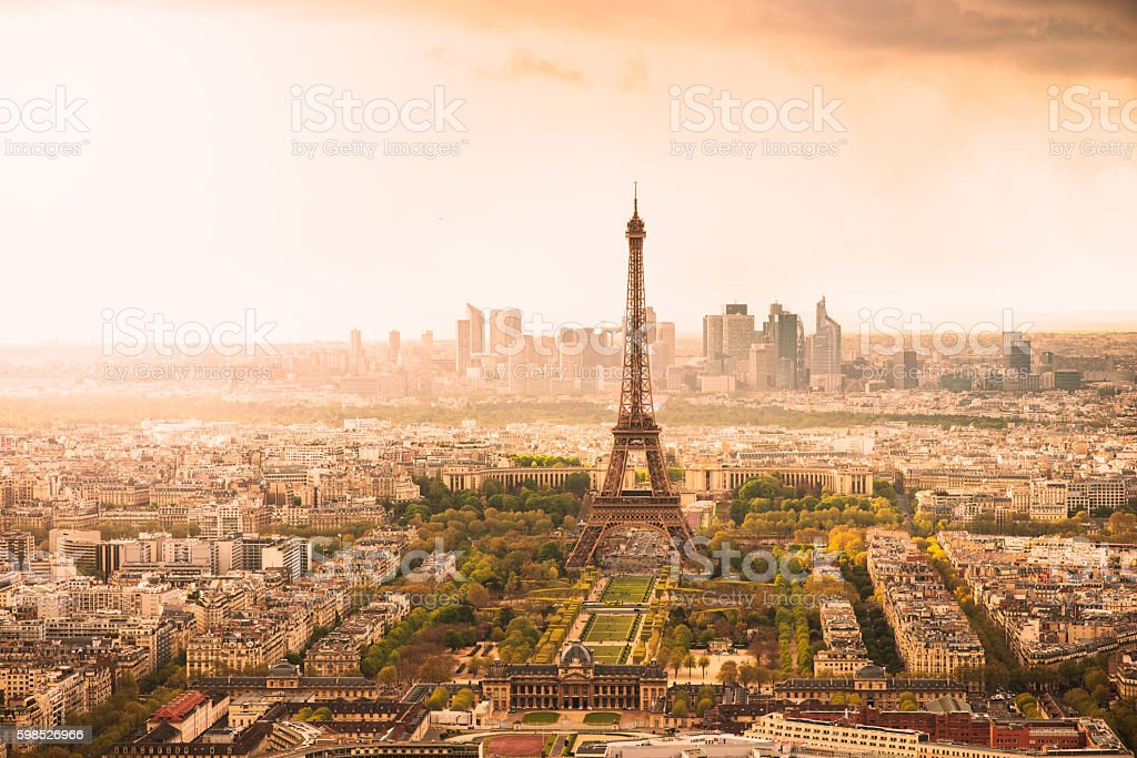 Paris at Sunset royalty-free stock photo