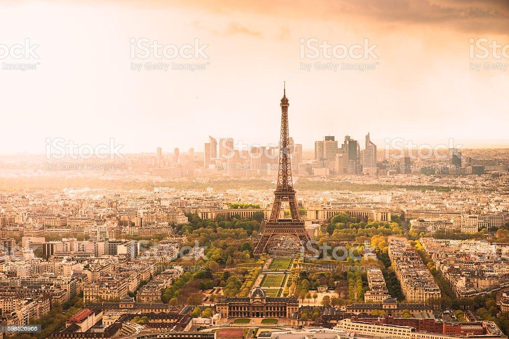 Paris at Sunset stock photo
