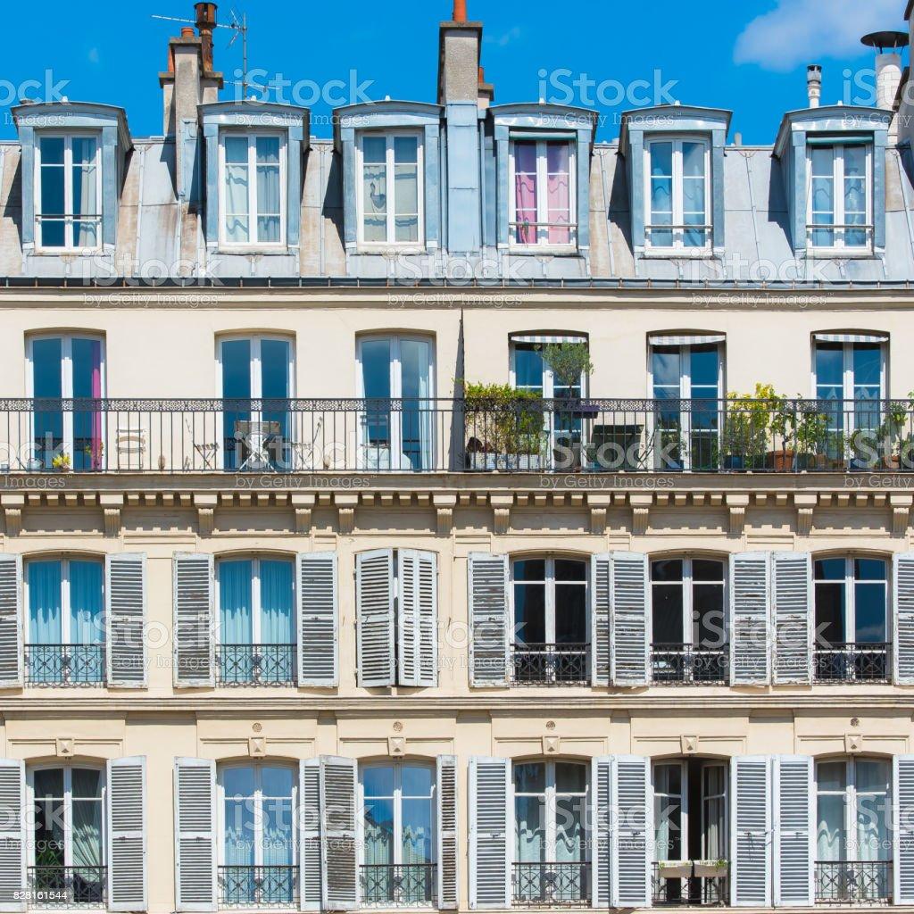 Paris, attractive facades stock photo