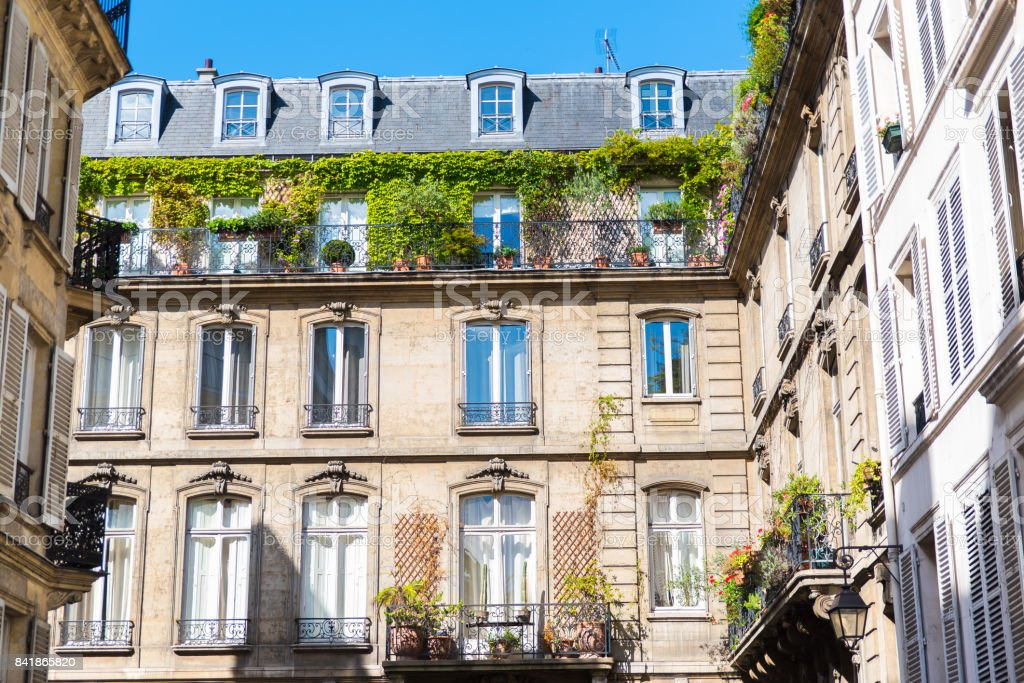 Paris, attractive facades stock photo