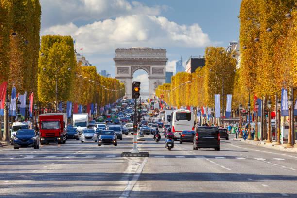 Paris. Avenue Champs Elysees. stock photo