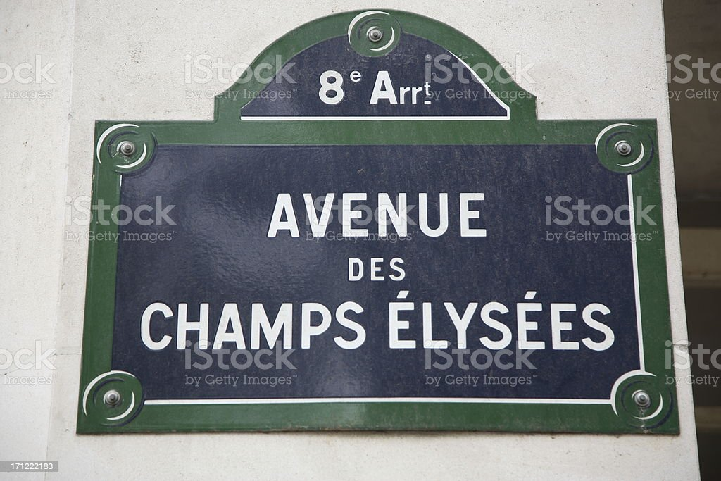 Paris: Avenue des Champs Elysees royalty-free stock photo