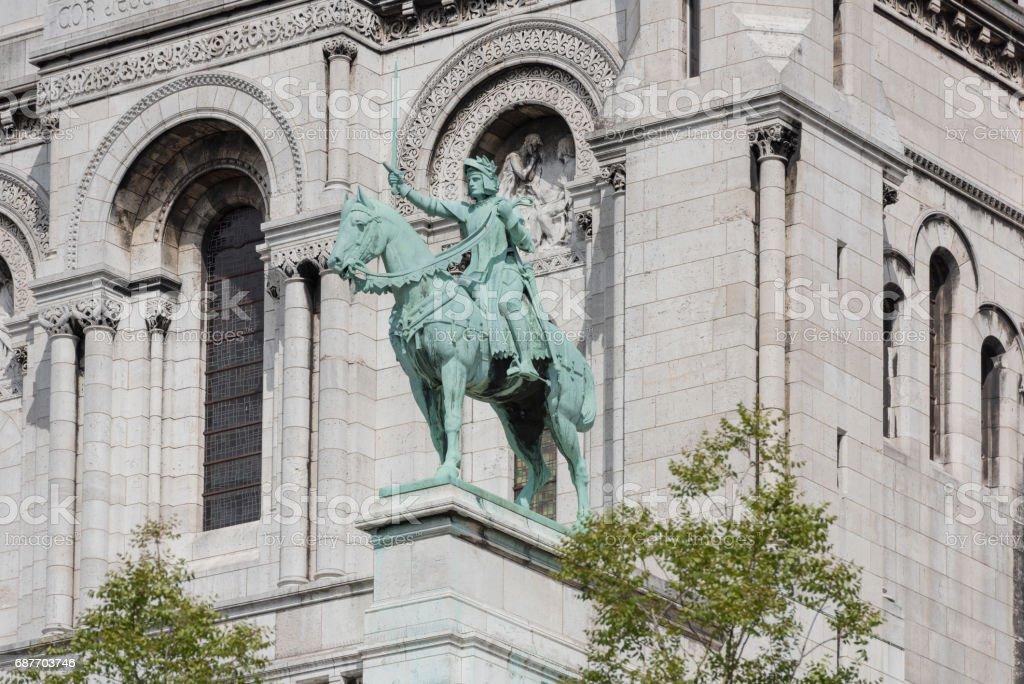 Paris. Basilica of Sacre Coeur in Montmartre. Finishing details stock photo