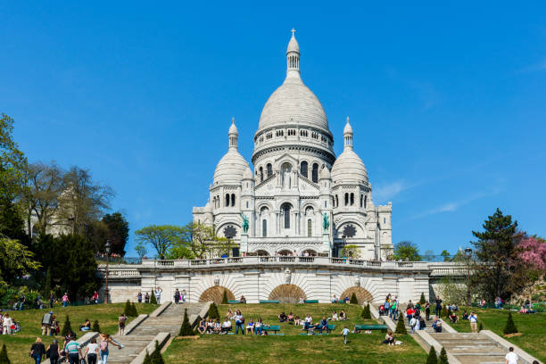 Paris, Basilica Sacre Coeur stock photo