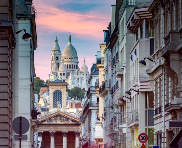 Paris. Basilica Sacre Heart. stock photo
