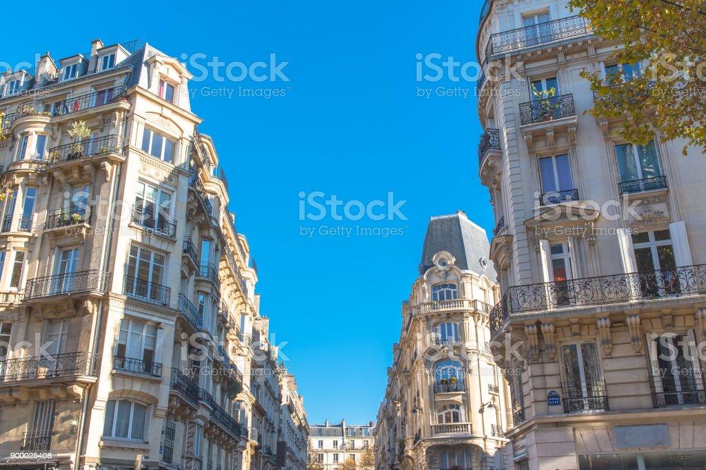 Paris, beautiful building facades stock photo
