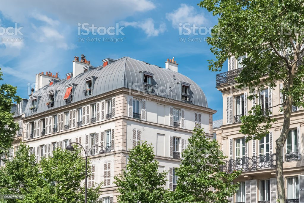 Paris, beautiful building in the center stock photo