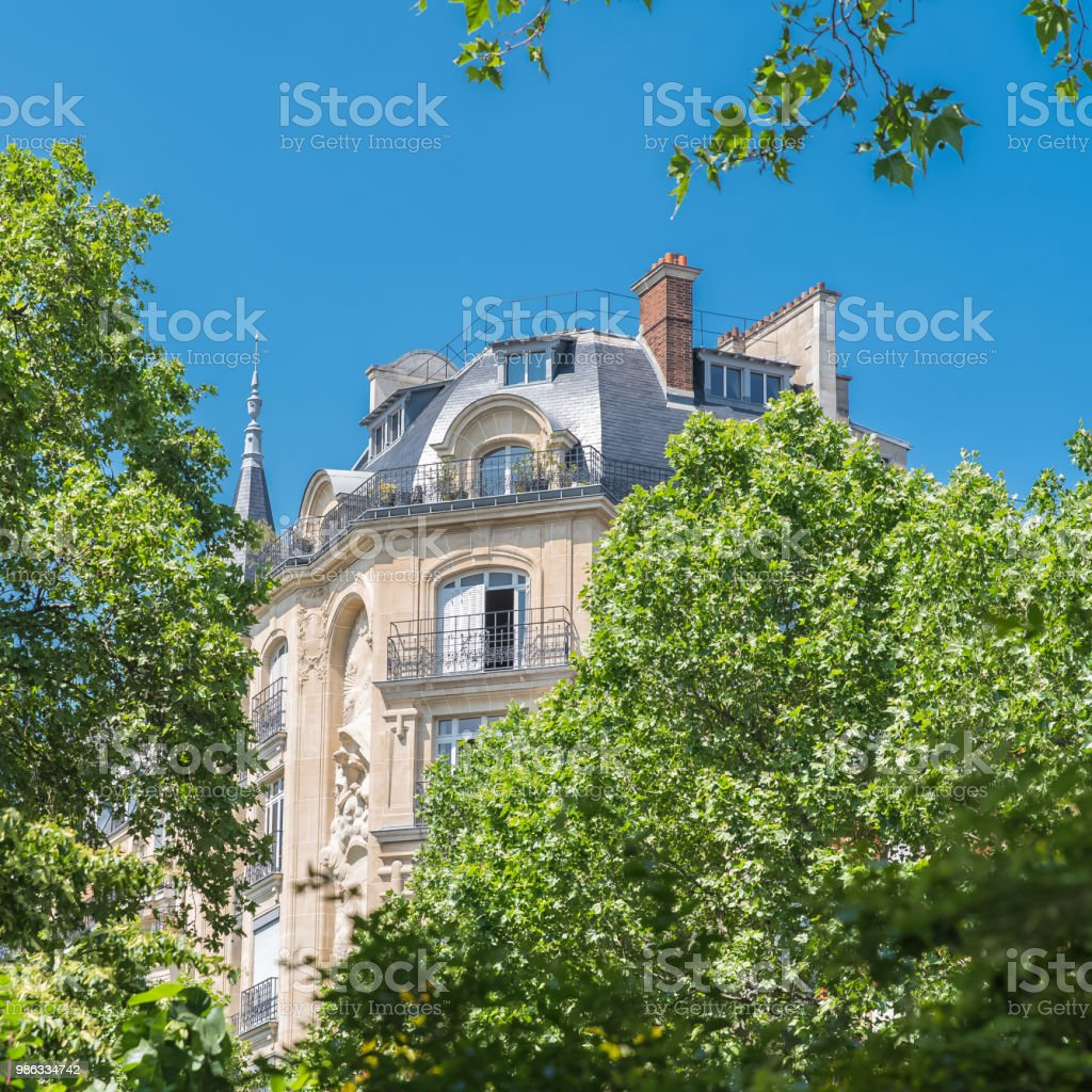 Paris, beautiful building stock photo