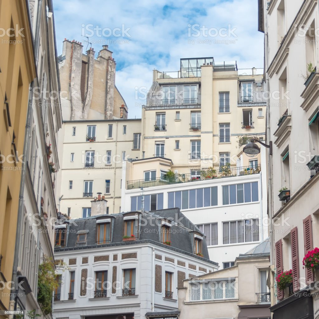 Paris, beautiful facades stock photo