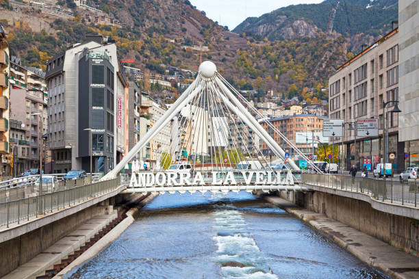Paris Bridge in Andorra la Vella stock photo