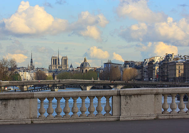 Paris Bridges and Churches stock photo
