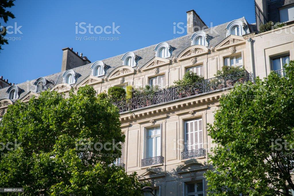 Paris, building, typical facade stock photo