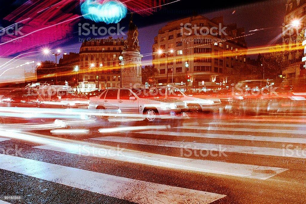 Paris by Night royalty-free stock photo