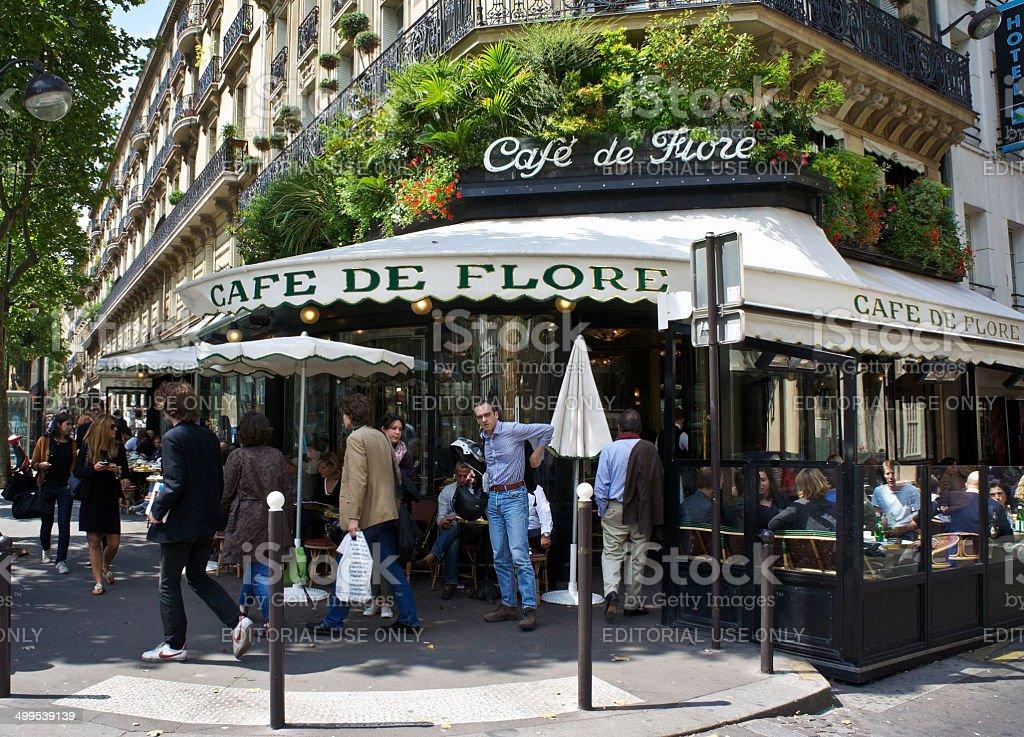 Paris Cafe - Les Deux Magots royalty-free stock photo