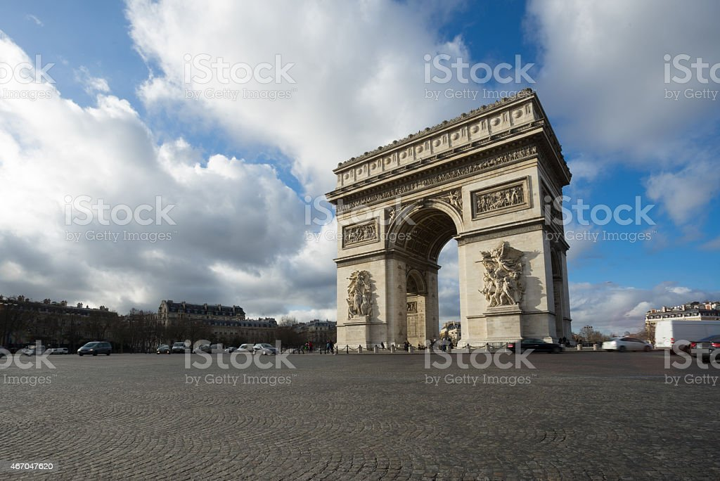 Paris, Champs-Elysees, Arc de triomphe stock photo