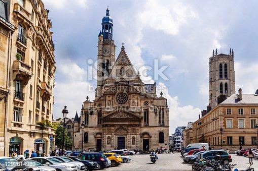 istock Paris Church of Saint Etienne du Mont near Pantheon. 1292614989