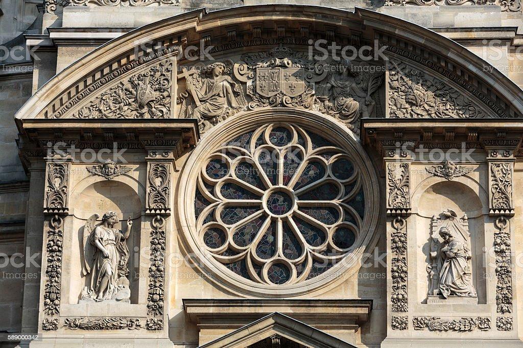 Paris - Church of Saint-Etienne-du-Mont in Paris near Pantheon stock photo