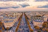 istock Paris city at sunset 1155913940