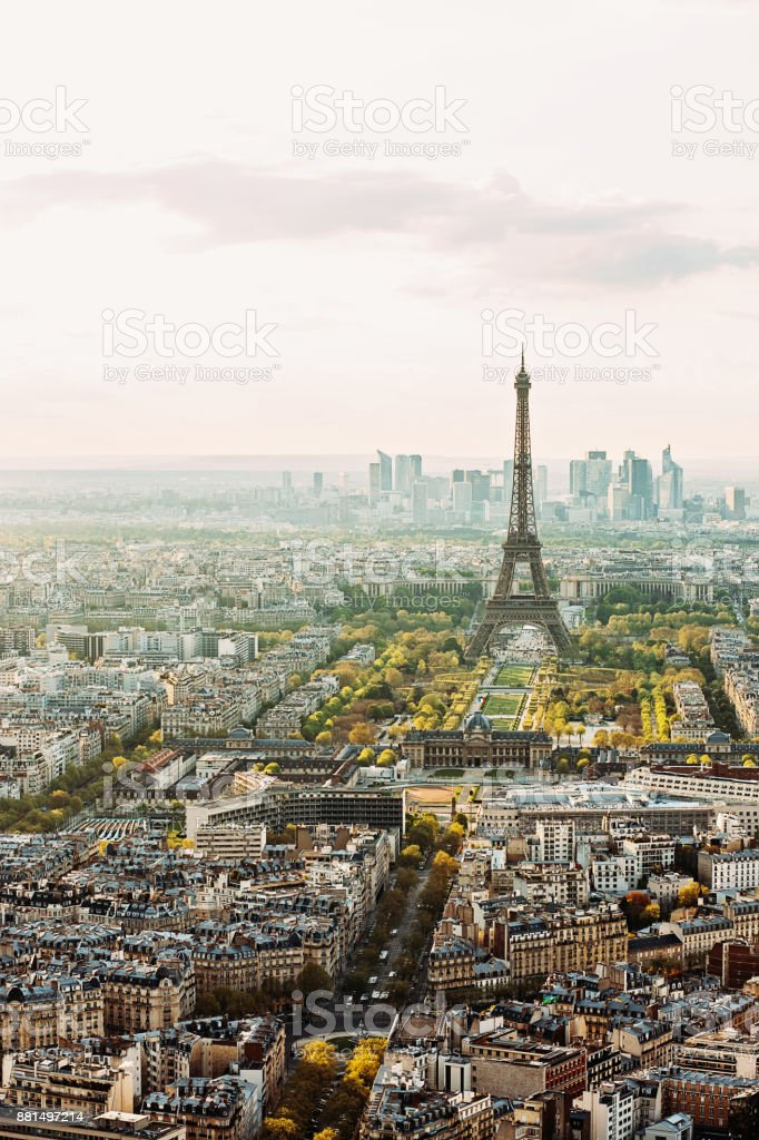 Paris city skyline stock photo