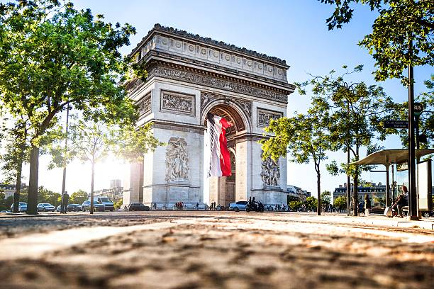 Paris city view - Arc de Triomphe ストックフォト