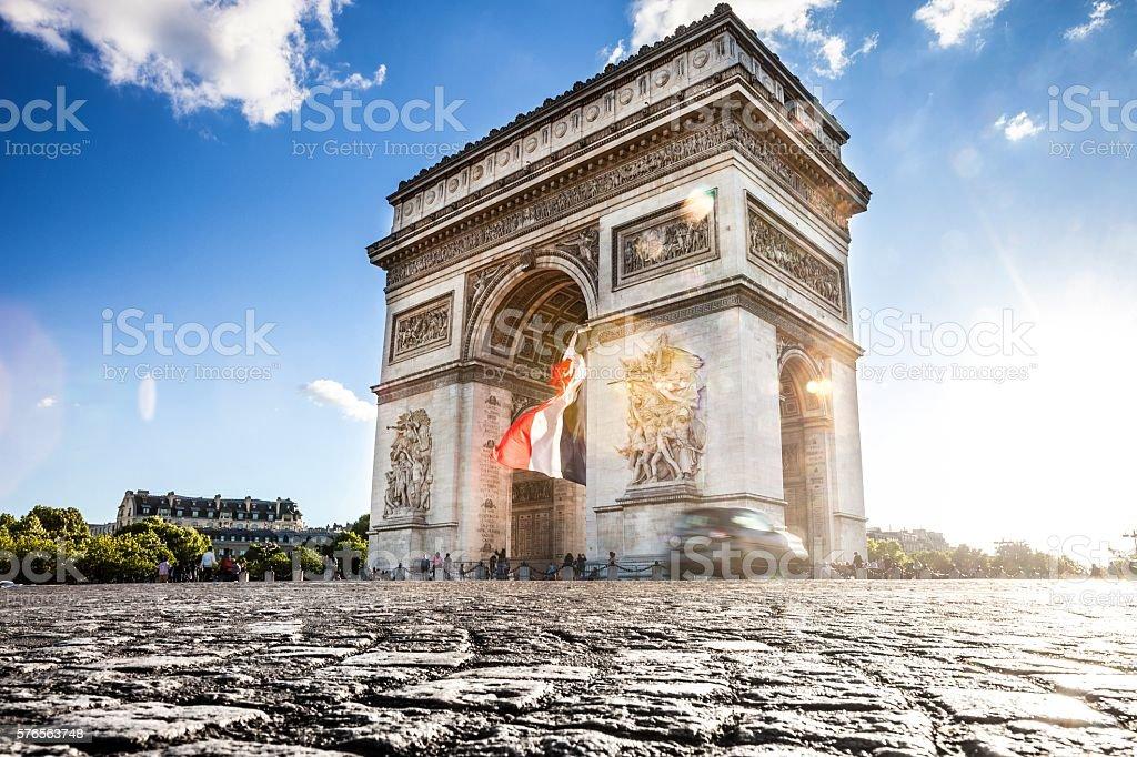 Paris city view - Arc de Triomphe - Photo