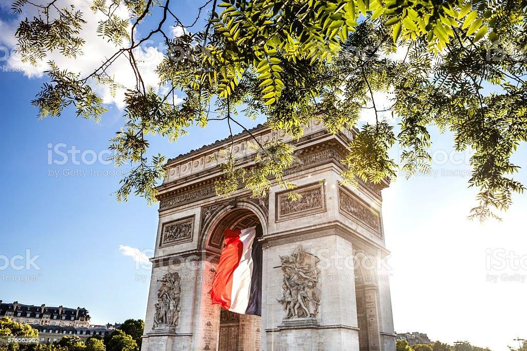 Paris city view - Arc de Triomphe stock photo