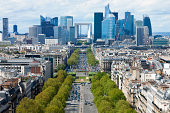 Paris view towards La Defense,click below to view more related images: