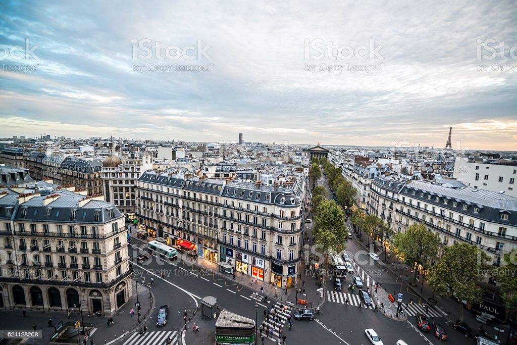 Paris cityscape, France stock photo
