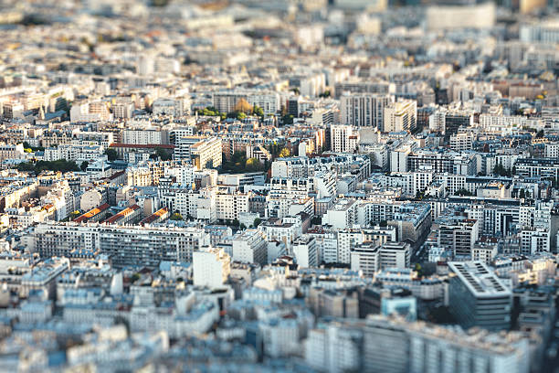 Paris Cityscape Aerial view of Paris (France). ile de france stock pictures, royalty-free photos & images