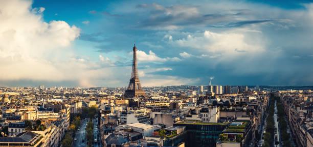paris cityscape - париж франция стоковые фото и изображения