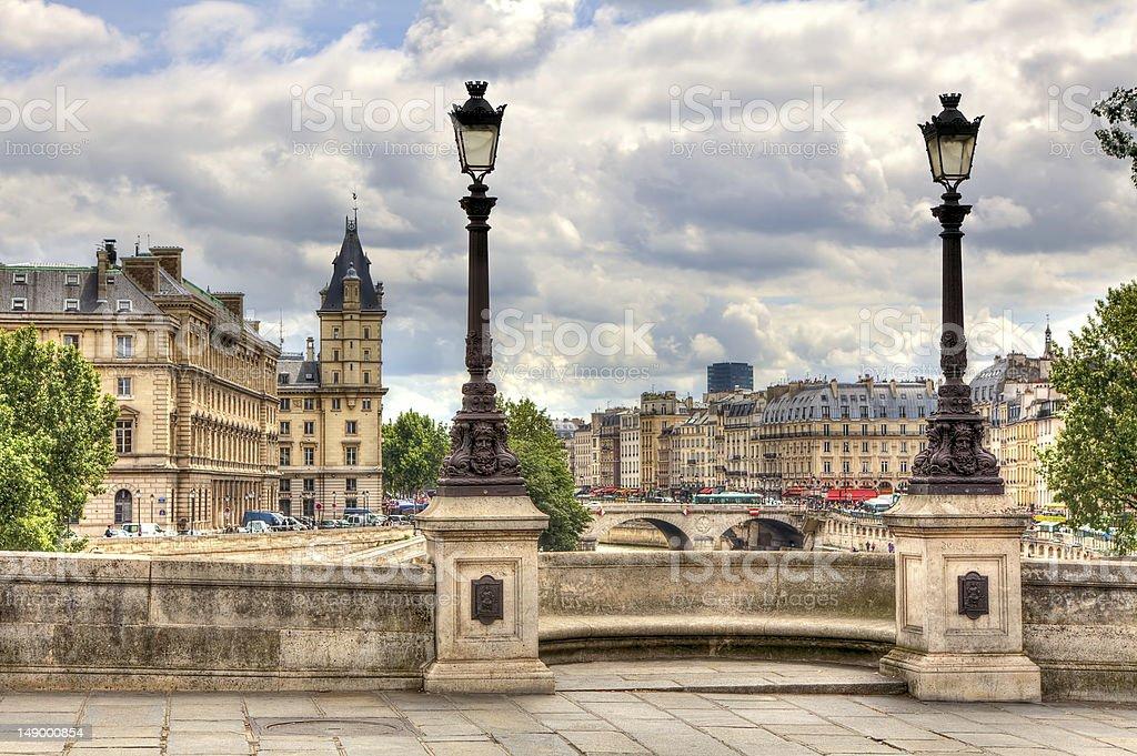 Paris cityscape. Pont Neuf. stock photo