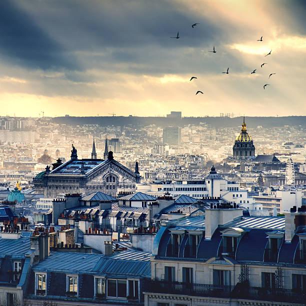 Paris cityscape taken from Montmartre stock photo