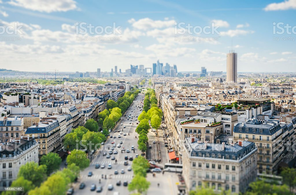 Paris-Stadtansicht-Tilt-Shift – Foto