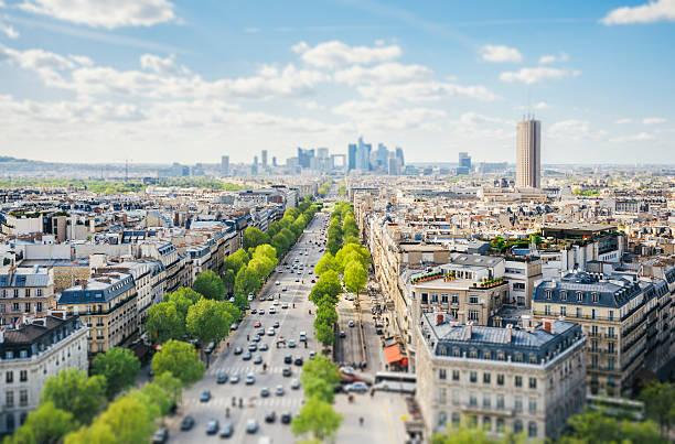 Paris-Stadtansicht-Tilt-Shift – Foto